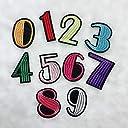 Sweetimes アイロンワッペン 刺繍 数字0-9 DIY 服 工芸品の装飾 パッチ アップリケ モチーフ10点セットNo.123