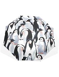 AOMOKI 折り畳み傘 折りたたみ傘 手開き 日傘 三つ折り 梅雨対策 晴雨兼用 UVカット 耐強風 8本骨 男女兼用 ペンギン かわいい