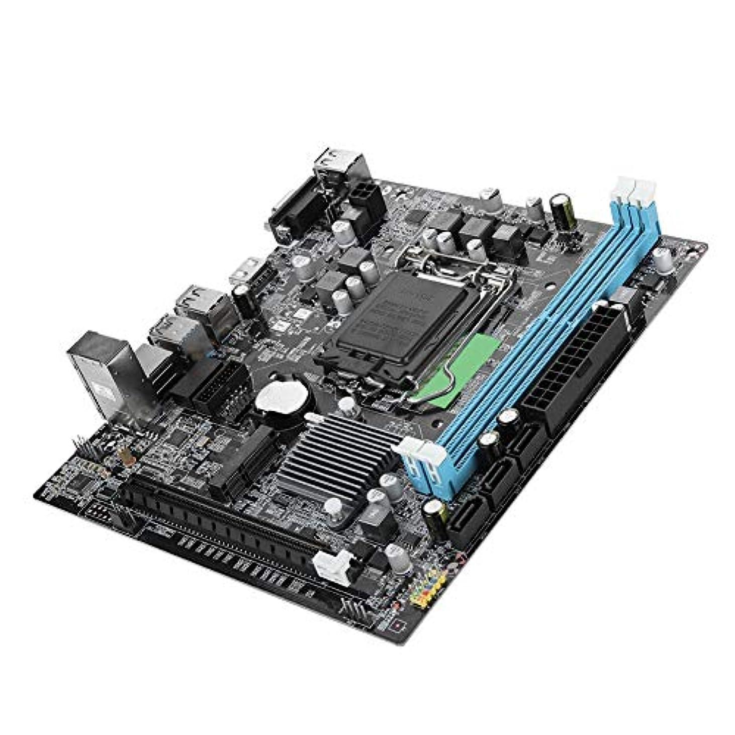 韓国さわやかシングルASHATA DDR3 コンピューターマザーボード、デスクトップコンピュータマザーボード LGA 1151 DDR3 USB3.0 SATA メインボード M-SATAインターフェース、フロントとリア デュアルUSB3.0インターフェース