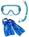リーフツアラー マスク シュノーケル フィン 3点セット RP0102 ブルー Lサイズ