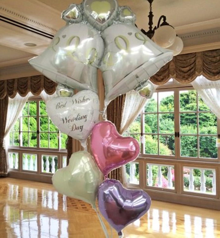 バルーン 結婚式 バルーン電報 バルーンギフト ダブルベルバルーンセット bw034