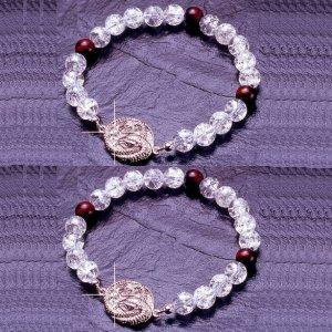 家の守護神『双頭白蛇ブレス2個組』(送料サービス)