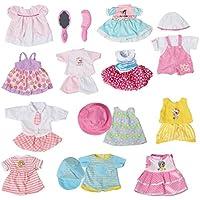 お人形遊び きせかえセット ドレス ワンピースセット 12着 櫛 30-38cmのお人形に