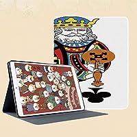 iPad Mini 3/2 / 1 ケース 超薄型 超軽量 TPU ソフトスマートカバー オートスリープ機能 衝撃吸収 二つ折りスタンドフレームアートワークなしでギャンブルポーカーカードゲームレジャーテーマをプレイするクラブの王