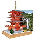 ウッディジョー 1/75 青岸渡寺 三重塔 木製模型 組み立てキット