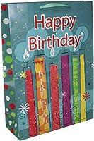 Kole Imports GH473 Happy Birthday Festive Candles Gift Bag [並行輸入品]