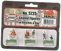 Model Power 5725 Sitting Figures w/Bench (6) HO