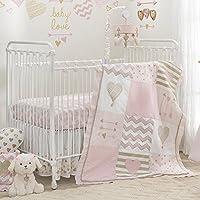 Lambs & Ivy Baby Love Pink/Gold Heart 4 Piece Crib Bedding Set [並行輸入品]