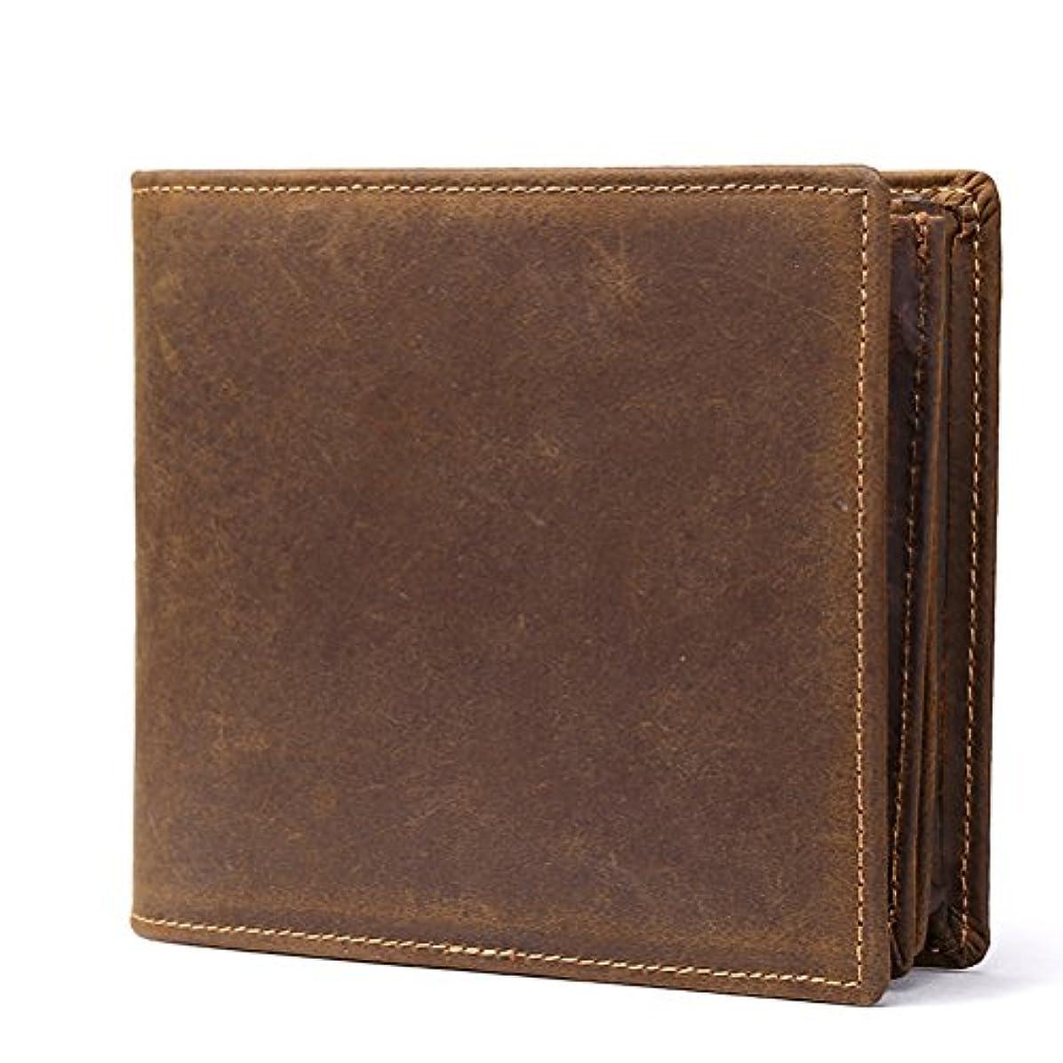 ヒロイック溝受け入れたZhhlaixing メンズ財布 Mens father's Slim Soft Money Pocket Leather Wallet Credit Card Case with ID Window Halloween...