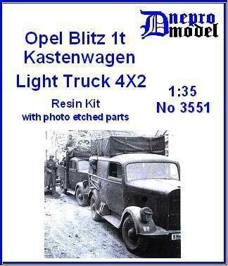 オペルブリッツ 1t バン(後期型) フルキット Opel Blitz 1t Kastenwagen Light Truck 4×2 [3551]