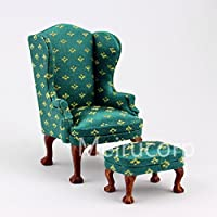 Dollhouse 1/12 Scale Miniature furniture Livingroom set sofa chair Footstool