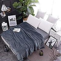 ソフト コーラルフリース 暖かい ベッド 毛布, 贅沢な フランネル 元に戻せる状態 軽量 ソファ 毛布, 夏の空気の状態 日 (秒) 毛布-V 150x200cm(59x79inch)
