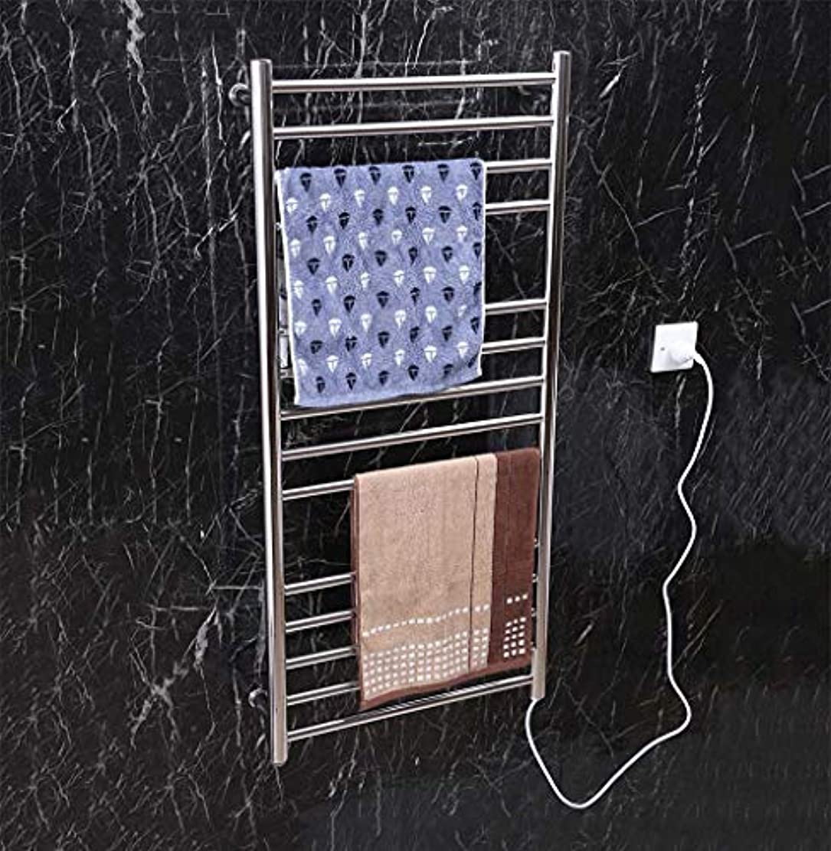 拳虚偽間接的スマート電気タオルウォーマー、304ステンレススチール壁掛け電気タオルラジエーター、家庭用ホテルのバスルームシェルフ、1100X520X120mm