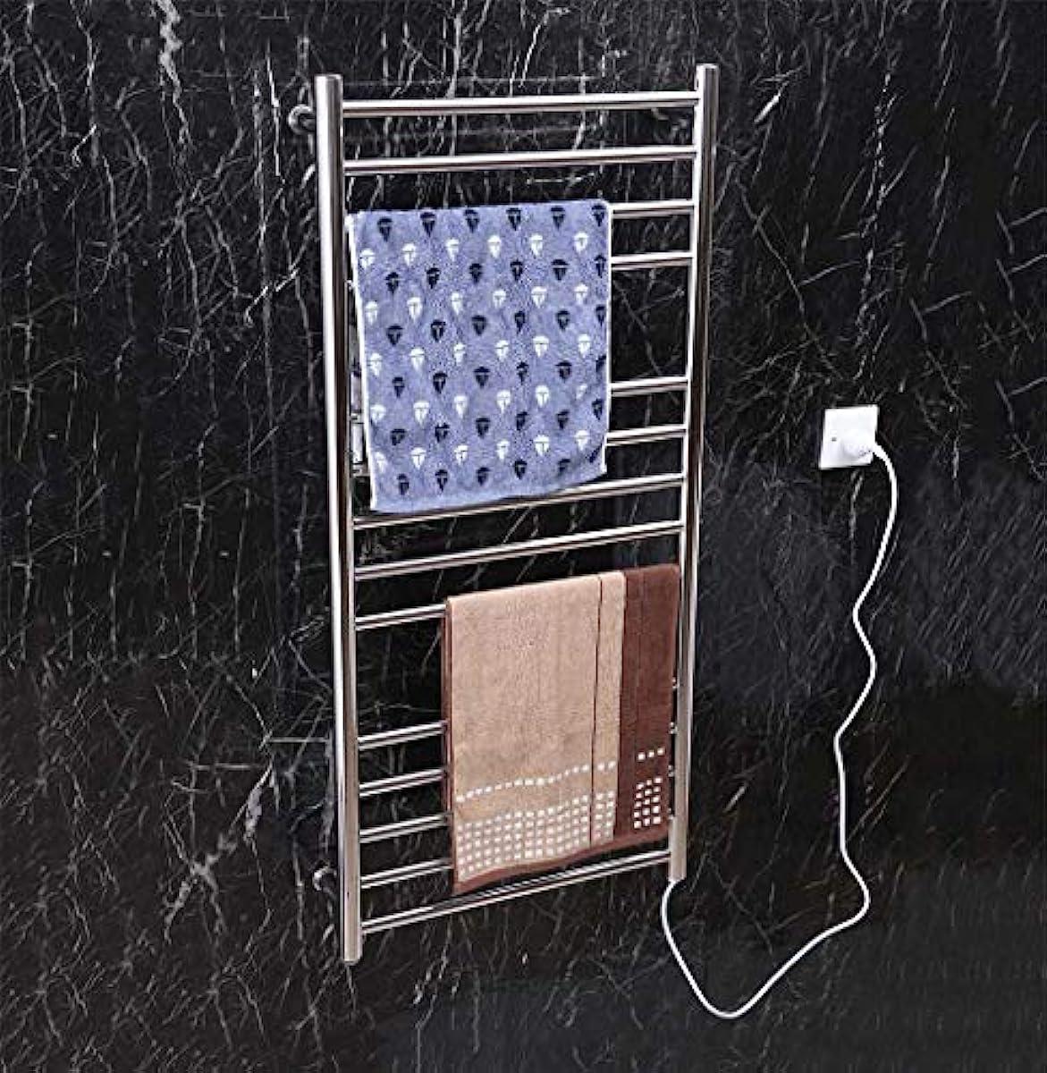 ペルメル晩餐シェードスマート電気タオルウォーマー、304ステンレススチール壁掛け電気タオルラジエーター、家庭用ホテルのバスルームシェルフ、1100X520X120mm