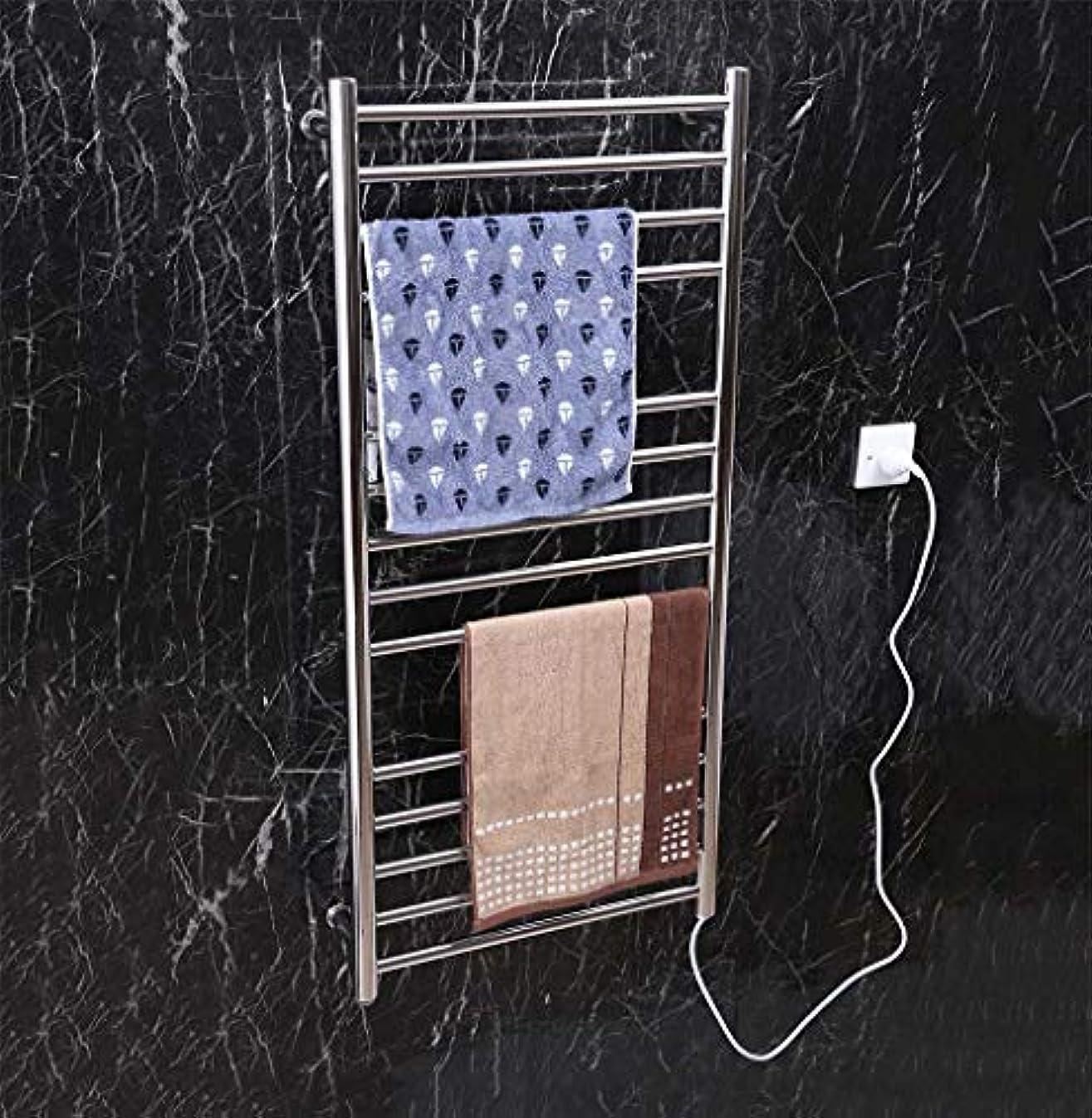 ポルノボイド顕微鏡スマート電気タオルウォーマー、304ステンレススチール壁掛け電気タオルラジエーター、家庭用ホテルのバスルームシェルフ、1100X520X120mm