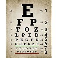 "Eye Chart印刷–サイズ11"" x14""–枠なし印刷–マット仕上げ–Great Addition to Any部屋。"