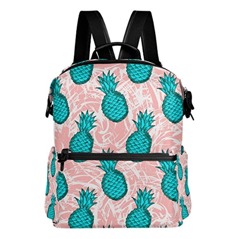 バララ(La Rose) リュックサック 高校生 子供 通学 大容量 かわいい パイナップル 果物柄 リュック レディース 大人 軽量 防水 キャンバス バッグ 学生 旅行 収納バック アウトドア デイパック