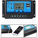 Auveach 12V 24V Solar Panel Charger Controller Battery Regulator Dual USB LCD Display New
