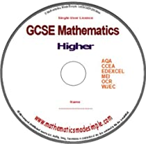 GCSE Mathematics Higher Revision DVD(ROM) for Grade A and A*. MS Windows, Android Tablets, IPAD and Kindle Fire etc.