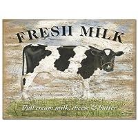 Fresh milkメタルサイン