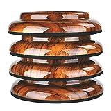 KingPoint (ロースウッド)直立ピアノキャスターカップ Double Wheel 床 カーペットプロテクター アップライト ピアノプラスチックパッド付き 4枚