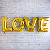 誕生日 バルーン 特大 風船 LOVE ゴールド 結婚式 ウエディング 披露宴 二次会 前撮り 誕生日 パーティ プロポーズ サプライス おしゃれ ぺたんこ配送