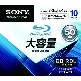 SONY データ用BD-R 追記型 片面2層50GB 4倍速 プリンタブル 白 10枚P 10BNR2DCPS4