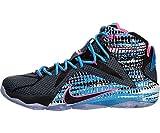 (ナイキ) Nike レブロン12 シューズ レブロン ジェームスLebron XII Chromosome.Blk/Pink/Blue Lagoon バスケットボール 28.5