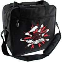 BowlerstoreピンスプラッシュBowling bag-ブラック/ホワイト/レッド