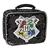 Harry Potter Lunch Box Hogwarts Castle Crest Reversible Sequin Insulated Lunch Bag Tote