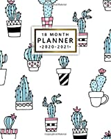 18 Month Planner 2020-2021: Pretty Cactus Weekly Organizer with Monthly Spread Views - Cute Potted Cacti Planner & Agenda, To-Do's, Notes, Inspirational Quotes & Vision Boards (January 2020 - July 2021)