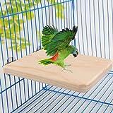 ZoCenterShop(TM) ペット鳥オウムかむおもちゃ木材ぶら下げスイングケージインコスタンドスタンドプラットフォームホット