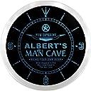 LEDネオンクロック 壁掛け時計 ncpb1899-b ALBERT 039 S Man Cave Cowboys Beer Bar Pub LED Neon Sign Wall Clock