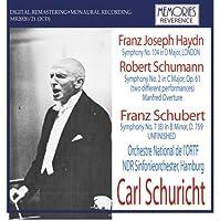 ハイドン:交響曲第104番「ロンドン」、シューマン:交響曲第2番(2種)、シューベルト:交響曲第8番「未完成」、シューマン:「マンフレッド」序曲