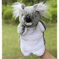 ychoice面白いFinger PuppetsおもちゃCute Stuffed Animal Soft Plush Toy Hand Puppet Cartoon Plush Toy (グレーコアラ)