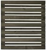 ボーダーフェンス ベランダdeウォール モダン ショート(80cm幅) 1枚 ダークブラウン 高さ88cm JSBF-MDN880-800DBR
