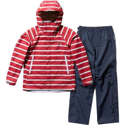 [ヘリーハンセン] レディース スカンザヘリーレインスーツ Scandza Helly Rain Suit ボーダーレッド2 HOE11700 A1