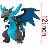 "[Generic] Pokemon Mega Charizard Plush 12' Plushie Toy Blue Height:30cm/12"""