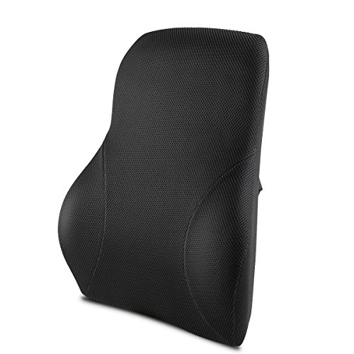 SATEOBA 低反発クッション ランバーサポート シートクッション 腰まくら 背当て 背もたれ 腰枕 腰楽 正しい姿勢に オフィス 椅子 車用 ドライブ デスクワーク