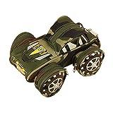 桜の雪 創意 立体 オフロードオフロード車 戦車 車型 大容量 多層 パスワードロック付き プレゼントに 多機能 ペンポーチ 小物入れ ペンケース (グリーンオフロードオフロード車)