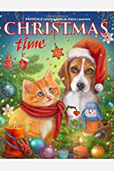 Christmas Time. Grayscale Coloring Book.: Adult Coloring Book. ペーパーバック