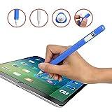 Yardoo Apple pencil ケース ペンシル カバー 軽量 三角形 転がり防止 キャップ紛失防止 よいフィット感 (ブルー)