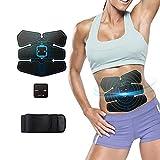 超薄型超軽量超コンパクトEMS腹筋トレ 腹筋マシン 腹筋ベル,お腹引き締め 腕部 太もも 減量用 運動用,筋 トレーニング(ブルー01)