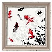 絵画 絵 インテリア 玄関 グラスシルエットアート 金魚 GS-06812