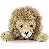 カロラータ ライオン ぬいぐるみ (検針2度済み) 動物 ねそべりシリーズ [やさしい手触り] お人形 15cm×9cm×25cm