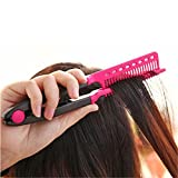 Amazon.co.jpLZROL はさんでサラ髪ストレート!ブロー&スタイリングコーム  ピンク