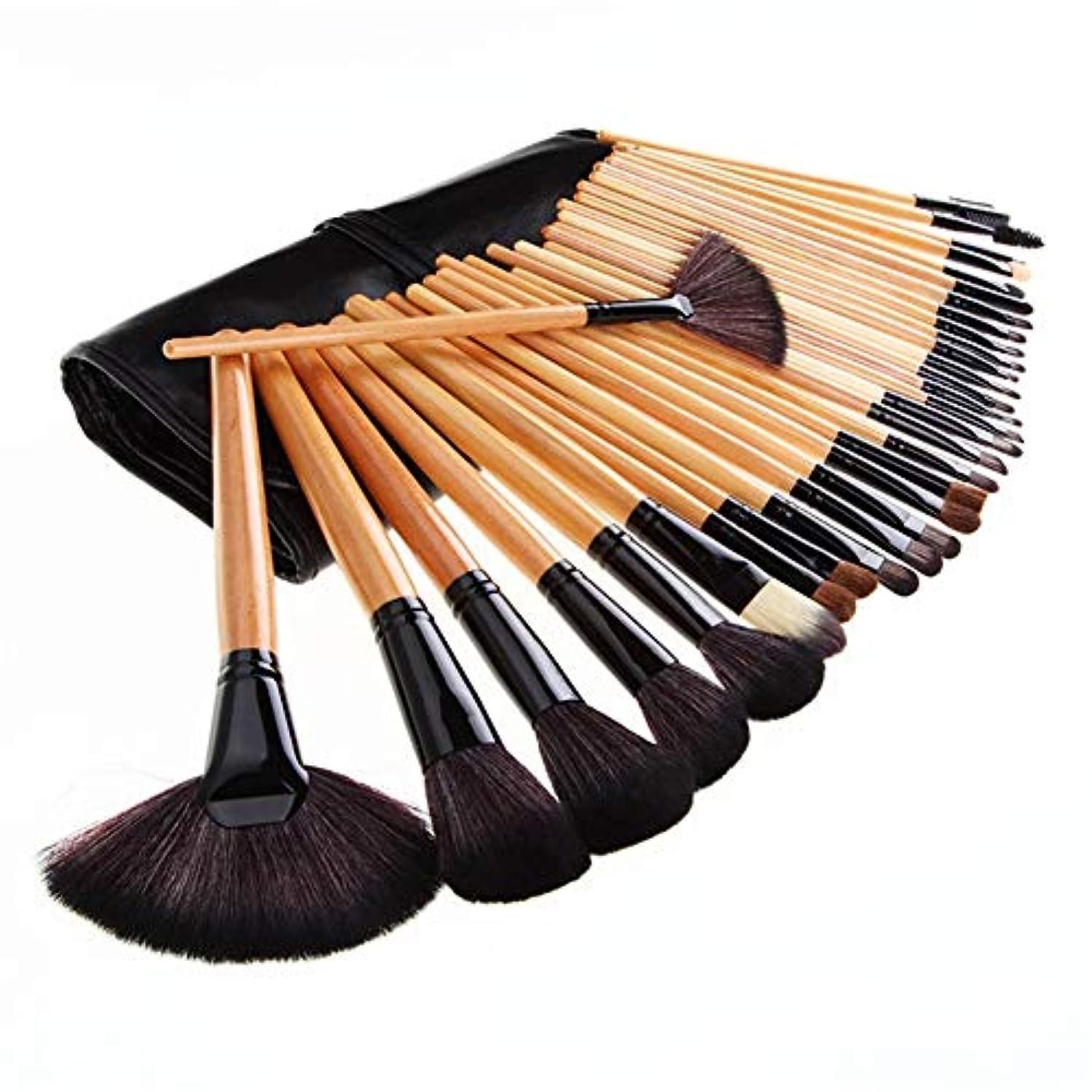 ジャム配分ガードMakeup brushes メイクアップブラシ32メイクアップブラシバッグのセット全体のセットメイクアップブラシバッグフォトスタジオメイクアップツールのネイルセット suits (Color : Clear)