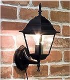 洋風 アンティーク調 ブラケットタイプ ウォールランプ スクエア ブラック 壁面用 ライト AZL-10DWL02S-black