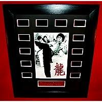 ■燃えよドラゴン■ENTER THE DRAGON (1973) ■ブルース リー as リー ■Bruce Lee as Lee ■フィルムセル+ミニポスター マット加工 額装品(12-1)