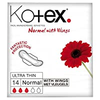 Kotex Ultra Thin Normal with Wings (14 per pack) コーテックス翼を持つ超薄型正常な(パックあたり14 )